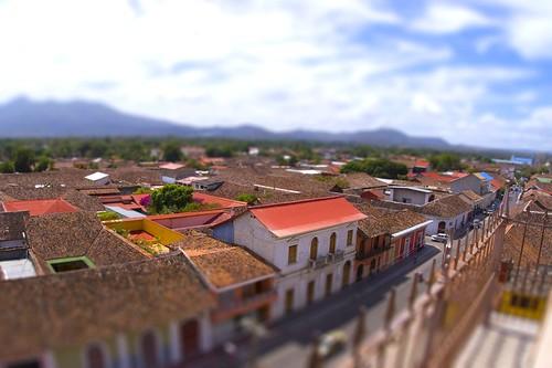 tilt shift Granada, Nicaragua