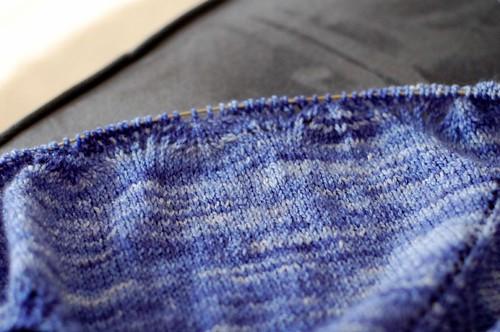 WIP: Blue Oz shawl