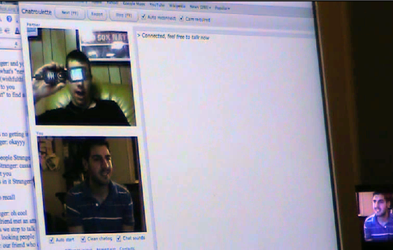 Me talking to a douche on Chatroulette