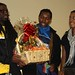 Jermaine from Wesern Union gives Prize