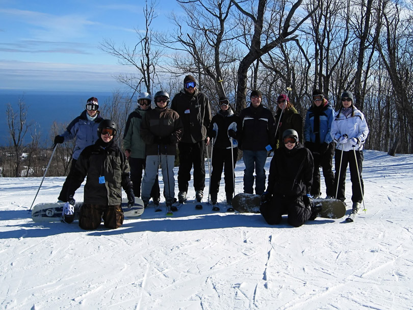 The Group on the Slopes