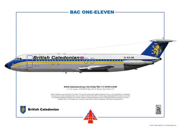 British Caledonian Airways Isle of Islay BAC-1-11 Series 501EX G-AXJM (cn 214)
