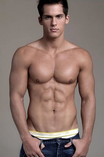 sexy international male model hot american shirtless man picture
