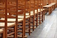 chairs (loop_oh) Tags: holland haarlem netherlands dutch chair chairs nederland kirche row rows nl nederlands kerk stuhl kloster sthle oranje niederlande stuehle reihe reihen janskerk
