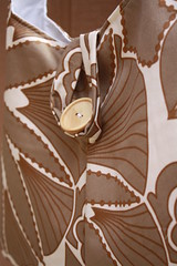 Brown and White Amy Butler Swing Bag