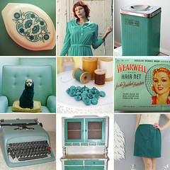 Teal (_cassia_) Tags: blue dog typewriter print dress buttons teal skirt jumper dresser hairnet phtography cookietin pyrexdish etsyshowcase notmyphotographs