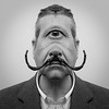 """""""In the land of the blind the one eyed man is king"""" (wilgagall) Tags: bw blackwhite king surrealism jim cyclops moustache dali mam oneeyedman marchalphabetmadness philippehalsmandalicyclopssalvadordalí"""