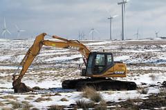 Wind turbine planter! (IMG_6781) (Robert G Henderson (Romari).) Tags: march scotland mechanical wind farm turbine digger 2010 eaglesham whitelee