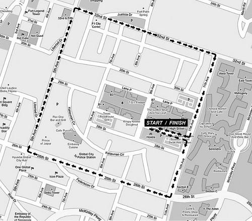 Earth Run 2010 - 3K Map