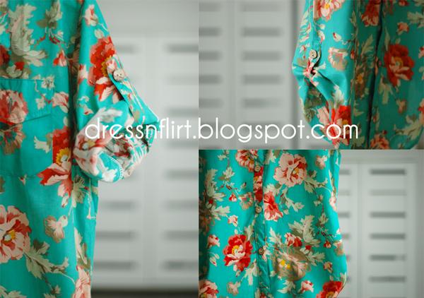 flower  shirt green collage