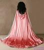 Gorgeous pink cloak (Sabrina Satin1) Tags: feminine sissy crossdresser ballgown crossdressingfantasy