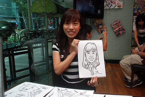 Caricature live sketching for M Hotel - 4