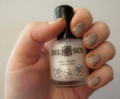 Reckless Zebra Nail art design