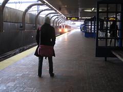Green Street station (orangelinestyle) Tags: boston train subway t ma rainyday weekend massachusetts saturday rainy jp transit jamaicaplain thet orangeline bostonist waitingforthetrain universalhub