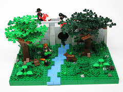 Boil before drinking (_Matn) Tags: street camp dog tree nature water animals river lego traveller mob will pollution greenery lead chemicals adventurer b