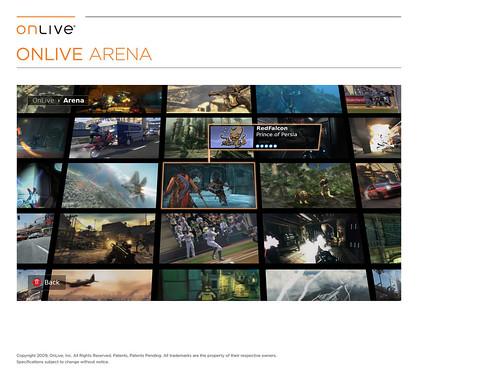 OnLive - Tela Arena