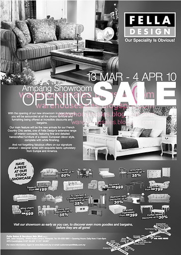 13 Mar - 4 Apr: Fella Design Opening Sale @ Ampang