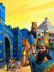 Ancient Babylon (cool-art) Tags: city history soldier king iraq east staff syria middle babylon chariot mesopotamia emperor ziggurat euphrates assyrian