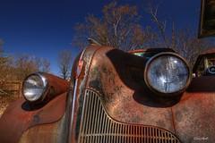 39 Buick Eight (ChristopherLeeHewitt) Tags: buick junk rust classiccar decay rusty grill junkyard hdr rustycar topaz buickeight canon450d