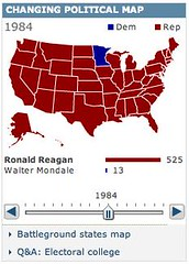 Historical US election results (toffeemilkshake) Tags: work bbc infographics