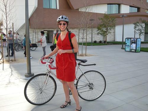 Alexis + her bike