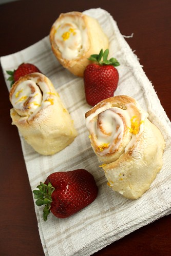 Sticky Meyer Lemon Rolls