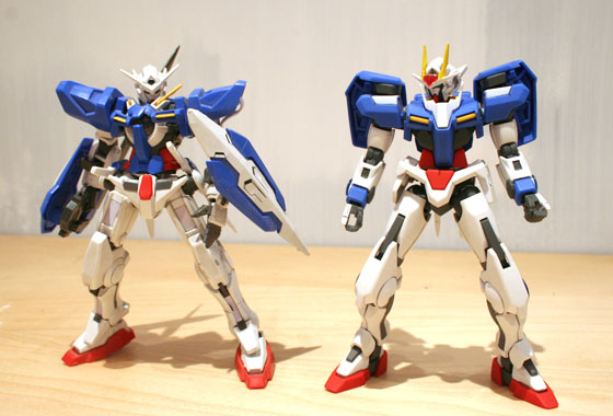 Exia and 00 side-by-side