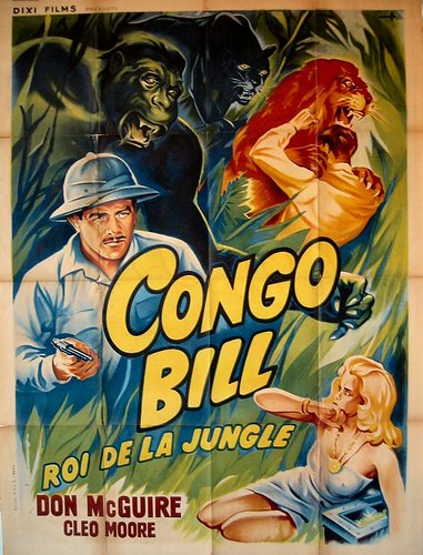 CONGO BILL (1948) French one sheet