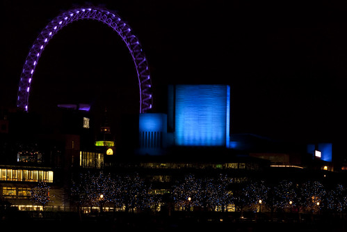 London Eye at Night - Blue
