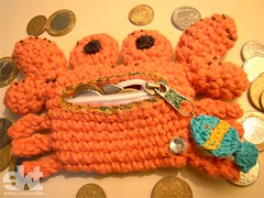 Carangueijo - Crab Porta Moedas (erika.tricroche) Tags: sea fish money cute pr
