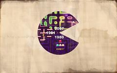 pacmantimeline (Pixel Fantasy) Tags: wallpaper game arcade retro pacman mspacman xboxlive nintedo pacmance timeine
