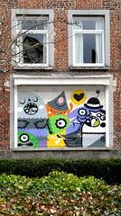 street art Ghent : bue the warrior (_Kriebel_) Tags: street urban art graffiti sticker belgium belgique belgi ghent gent gand urbain kriebel belgin
