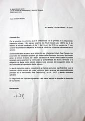Carta de AENA