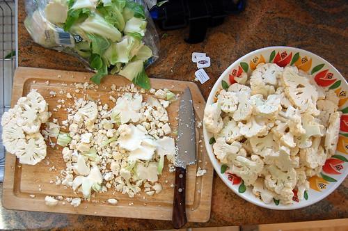 cauliflower prep