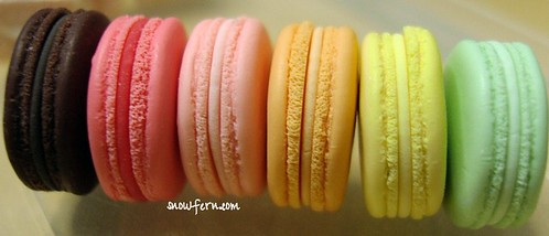 macarons side by side