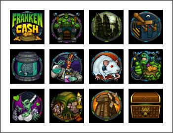 free Franken Cash slot game symbols