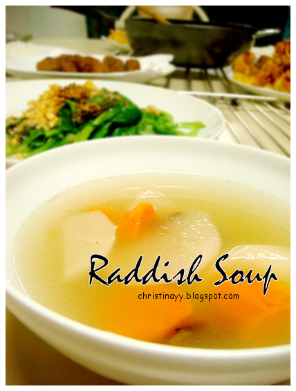 Home-cook: Raddish Soup