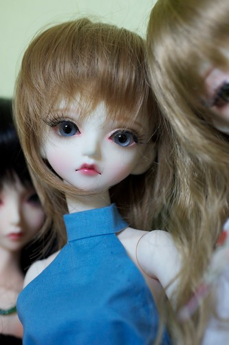 Peak's Woods resin BJD Sky with new glass eyes and Leeke World wig.