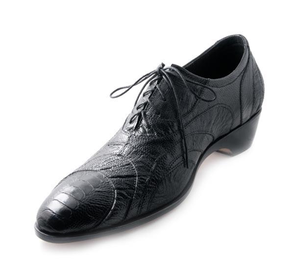 Figura 06 Shoes33_Ostrich Oxford in Black Ostrich Leg