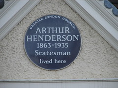 Photo of Arthur Henderson blue plaque