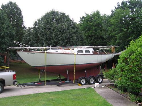 Pearson Vanguard sailboat trailer