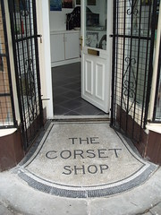 On Bath Street in Ilkeston Derbyshire a century ago there was once a quite fashionable if modest Corset Shop . The old premises are soon to be an  Art  Shop's premises : S1053240 (Lenton Sands) Tags: shop ilkeston corsets bathstreet