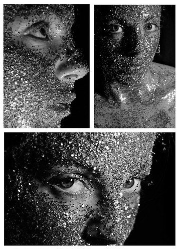 Glitter tryptych
