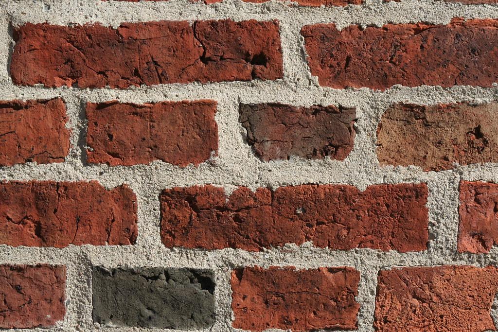 Gamle Ribe-mursten med ny mørtel