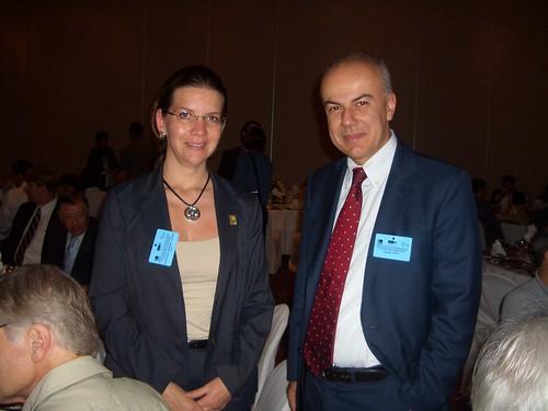Edoardo Croci con il ministro dei trasporti del Messico, novembre 2008
