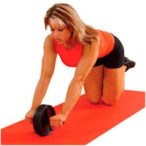 Kaslı kadın vücudu Fitness hareketleri