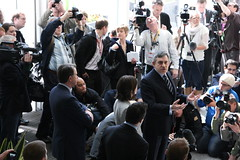 Ex-Prime Minister Gordon Brown Addresses Siemens Employees (Ian H's) Tags: manchester election siemens pm primeminister gordonbrown sirwilliamsiemenshouse siemensmanchester