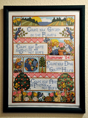 Count your garden by the flowers... (keroleen73) Tags: crossstitch embroidery framed frame imadethis xs rahmen gerahmt handarbeit kreuzstich aida14 designworkscountyourgardenbytheflowers countyourlifebysmilesnottears countyourdaysbygoldenhours countyouragebyfriendsnotyears