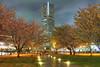 Landmark Tower and Sakura (arcreyes [-ratamahatta-]) Tags: nightphotography japan photoshop canon spring nightlights sakura nightscene yokohama minatomirai hdr landmarktower hanami 2010 photomatix ratamahatta 5xp singleraw canon7d agustinrafaelreyes