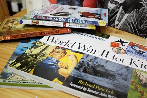 ww2 book stack